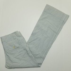 Banana Republic Seersucker Pants - Blue White Stri